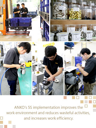 ANKO's 5S implementation improves the work environment and reduces wasteful activities, and increases work efficiency