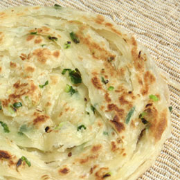 chinese crepe, green scallion pie