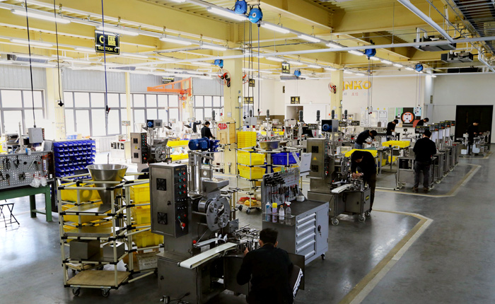 ANKO's food machine manufacturing area