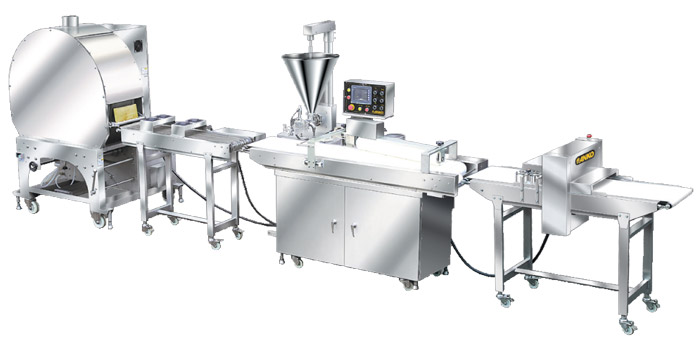 Automatic single / double production line of open ends finger spring roll FSP-Series