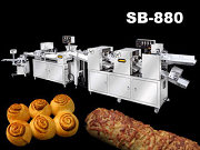Stuffed Bread 기계 | Automatic Multi Function Sheeting, Filling Rolling & Forming Production Line